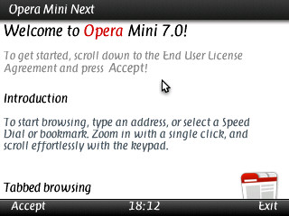 Opera Mini 7 Next Java, Symbian, Android